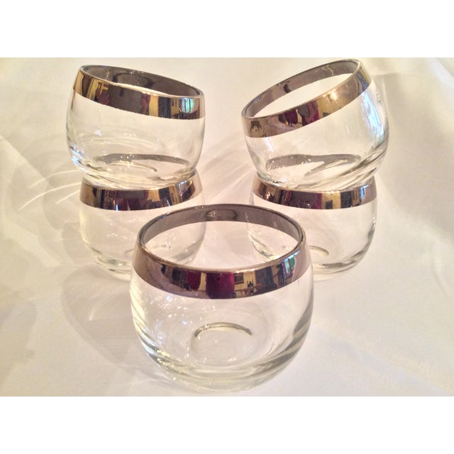 Mid-Century Dorothy Thorpe Inspired Roly Poly Whiskey Glasses - Set of 5 For Sale - Image 13 of 13