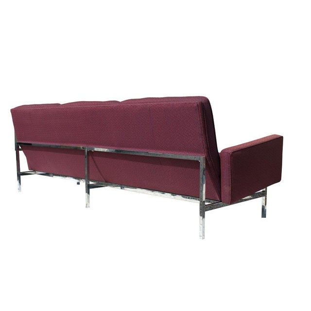 Florence Knoll Burgundy Sofa - Image 3 of 6