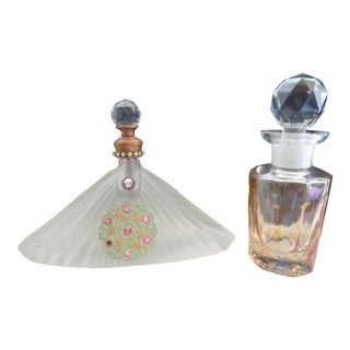Vintage Art Deco Perfume Bottles - Set of 2 For Sale