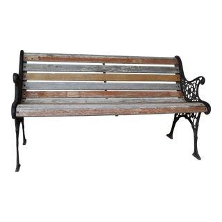 Vintage Cast Iron Bench For Sale