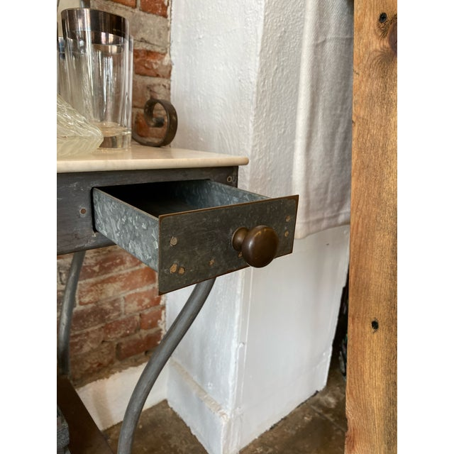 Antique Zinc and Marble Dry Sink Basin For Sale - Image 10 of 11
