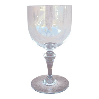 French Baccarat Crystal Red Wine Stem Glass For Sale