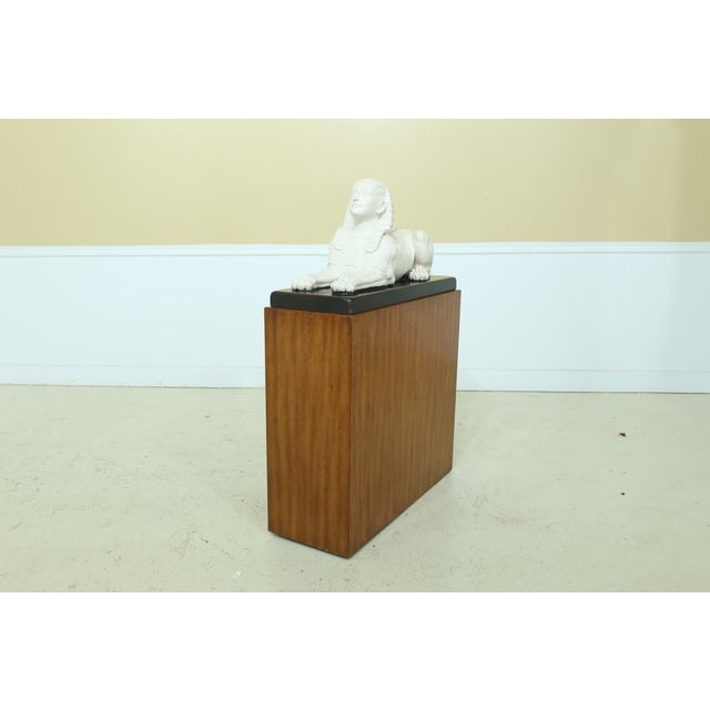 Theodore Alexander Sphinx Statue on Wood Base & Pedestal For Sale - Image 11 of 11