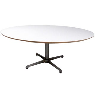 Mid-Century Modern Circular Table After Herman Miller For Sale