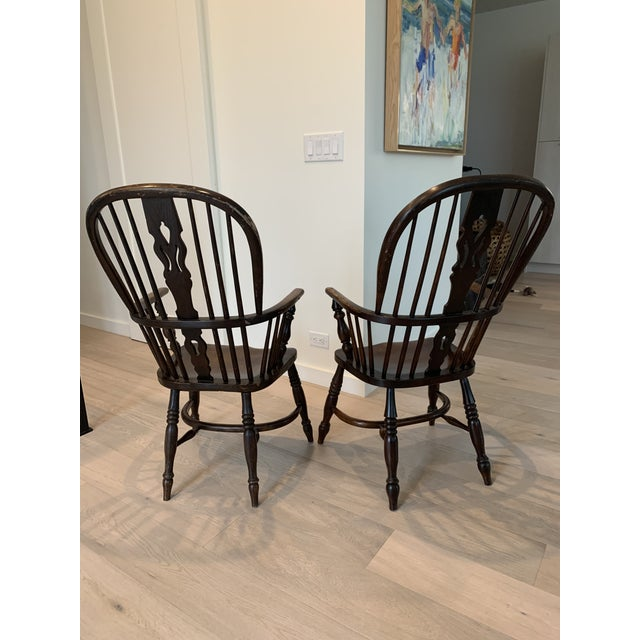 Traditional Late 19th Century Windsor Chairs - A Pair For Sale - Image 3 of 9