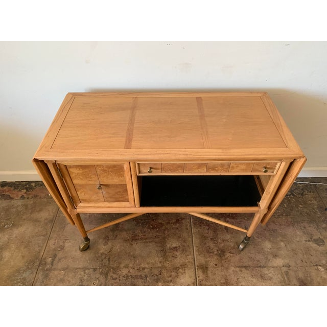 Mid-Century Modern Mid-Century Modern Scandinavian Sophisticate Bar Cart For Sale - Image 3 of 10