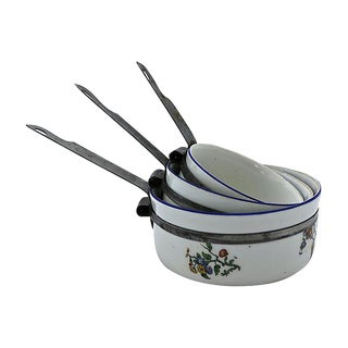 French Porcelain Sauce Pans - Set of 3 For Sale