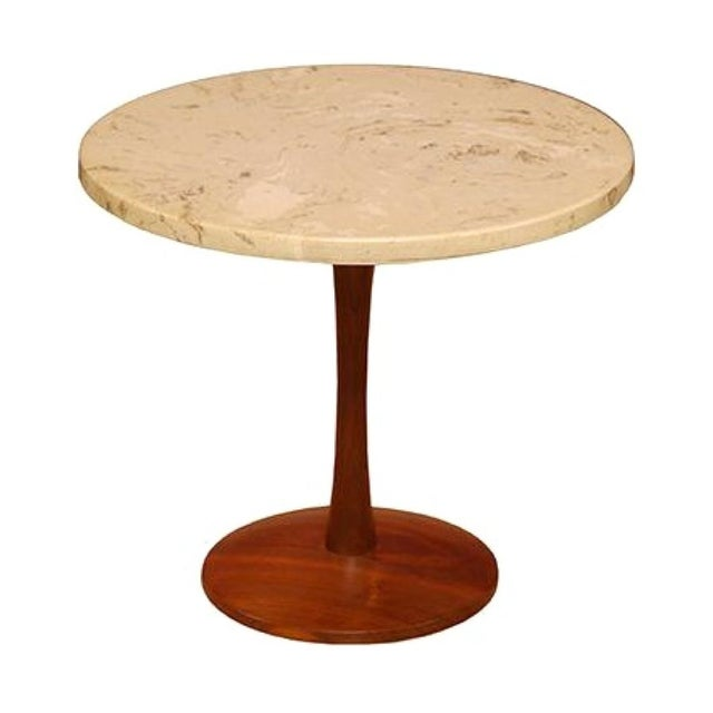 Mid-Century Modern Marble Side Table For Sale