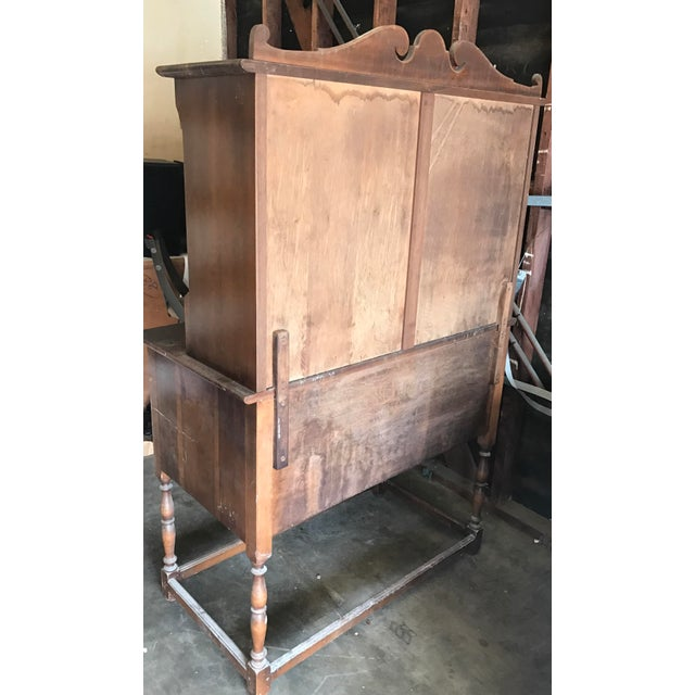 Antique Wood Hutch - Image 6 of 6
