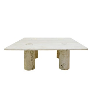 Travertine Coffee Table by Angelo Mangiarotti for Up&Up - Circa 1970 Italy For Sale