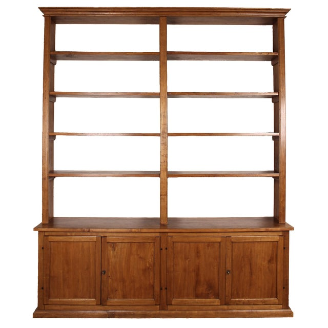20th C. Large Italian Open Bookcase For Sale - Image 13 of 13