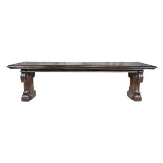 Italian Renaissance Walnut Refectory Table For Sale