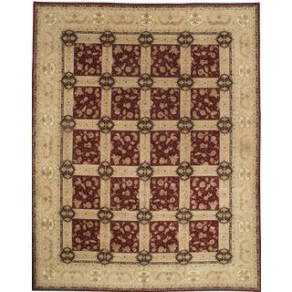 "Pasargad NY Sino Tabriz Silk Highlighted & Wool Rug - 12' x 15'4"" For Sale"