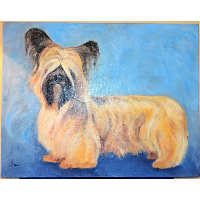 Yorkshire / Skye Terrier Acrylic Painting - Image 9 of 10