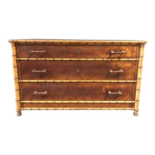 19th Century Faux Bamboo Dresser and Mirror by Rj Horner For Sale
