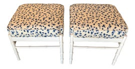 Image of Hollywood Regency Ottomans and Footstools