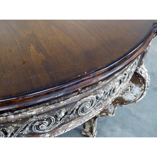 Wood Swedish Napoleonic Style Center Table For Sale - Image 7 of 10