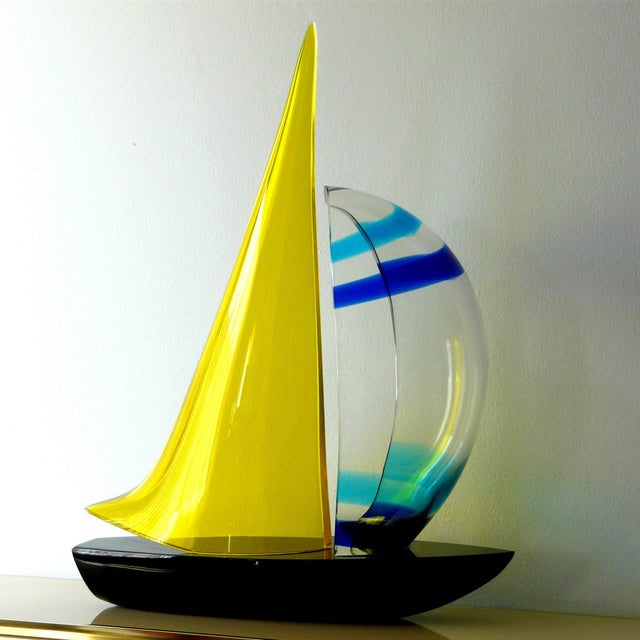 Romano Donà Sailboat Sculpture by Romano Dona' For Sale - Image 4 of 10