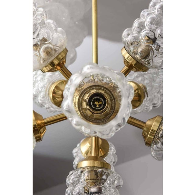 """1960s """"Sputnik"""" Chandelier With Bubble Glass and Brass 1960s For Sale - Image 5 of 11"""