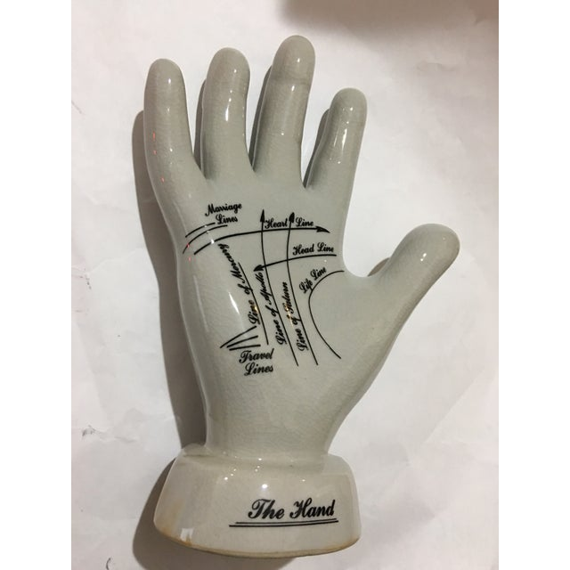 English Palmistry Ceramic Hand - Image 4 of 9