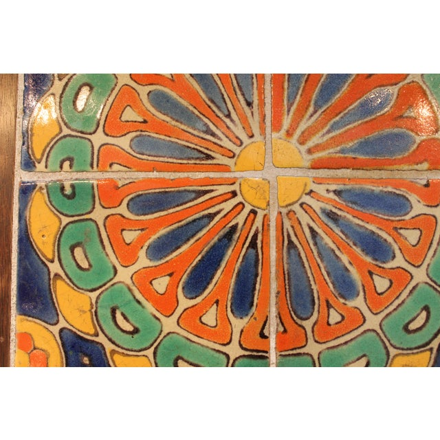 Vintage California Pottery Tile Side Table For Sale In New York - Image 6 of 11