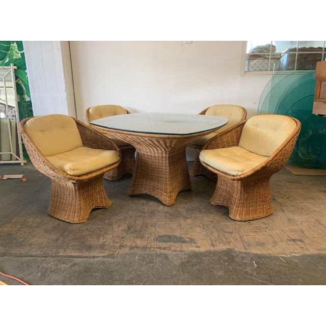 Sculptural Wicker Dining Table For Sale - Image 6 of 7