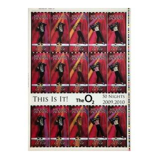 Michael Jackson This Is It! Uncut 2009 Lenticular Concert Ticket Sheet Form 4,4A Michael Jackson 2009 For Sale