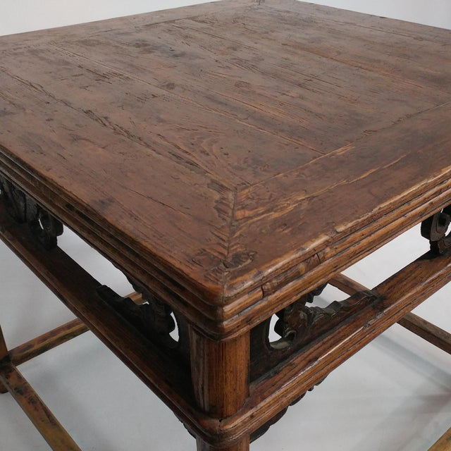 Antique Ningbo Carved Dining Table For Sale - Image 4 of 4