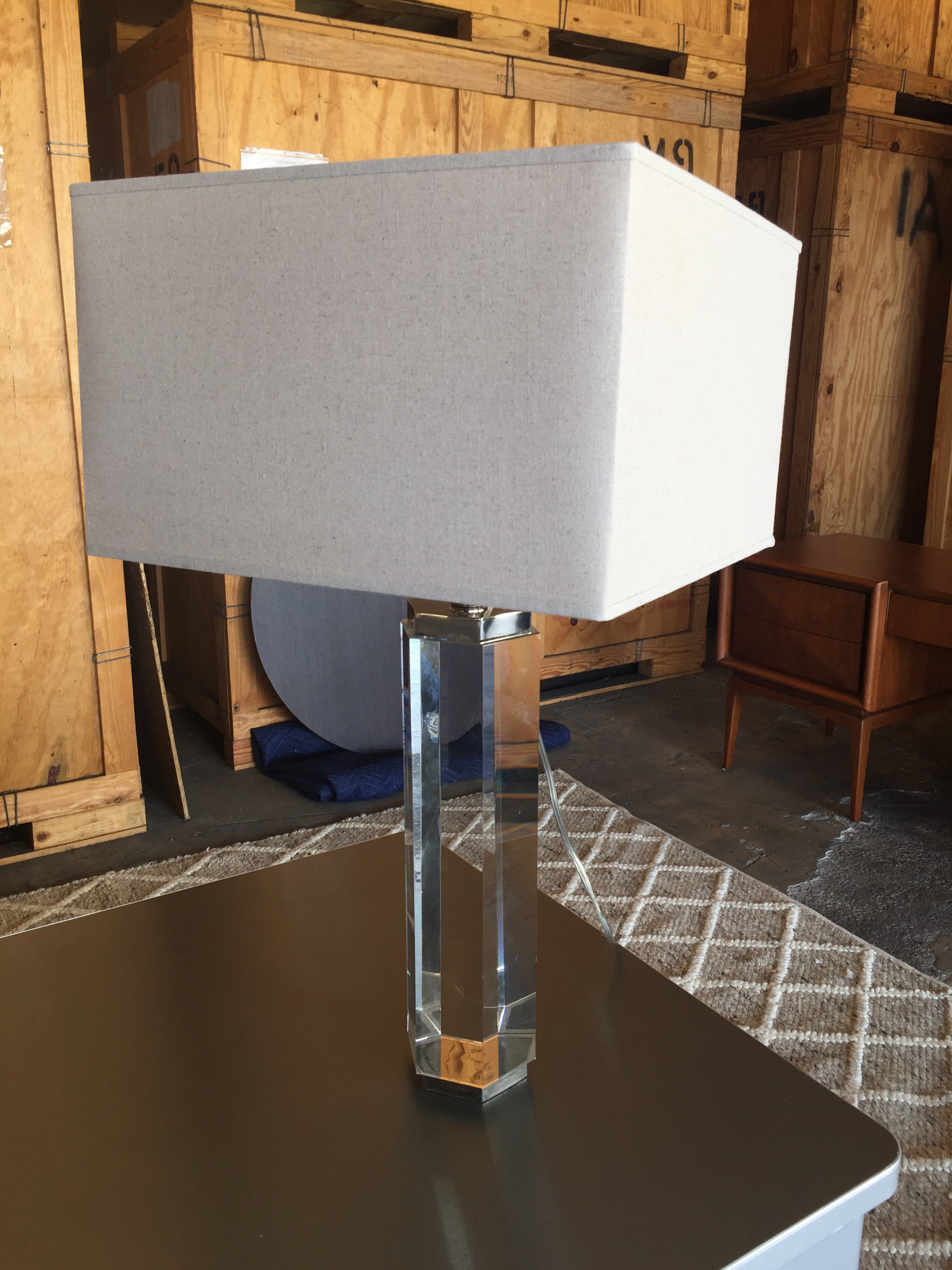 Hexagonal Column Crystal Table Lamp Restoration Hardware