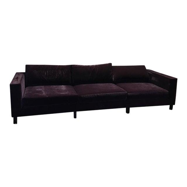 Dialogica Purple Velvet 10-Foot Custom-Made Sofa - Image 1 of 11