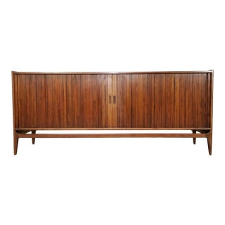 1960s Mid-Century Tambour Credenza by Richard Thompson for Glenn of California For Sale