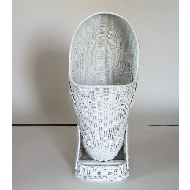 Mid 20th Century Mid 20th Century Vintage Wicker Whale Basket For Sale - Image 5 of 7