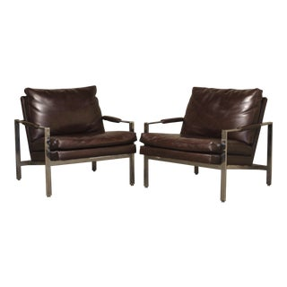 Milo Baughman for Thayer Coggin Lounge Chairs - a Pair