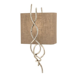 Silver Sculpture Wall Light