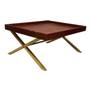 Ralph Lauren Crocodile Safari Collection Coffee Table For Sale