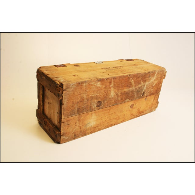 Vintage Wood Military Ammunition Trunk - Image 5 of 11
