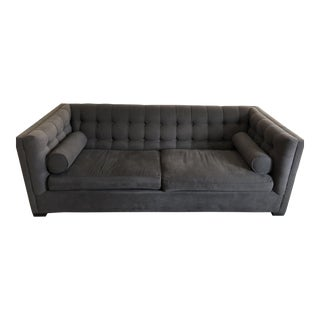 Horchow Neiman Marcus Grey Tufted Sofa