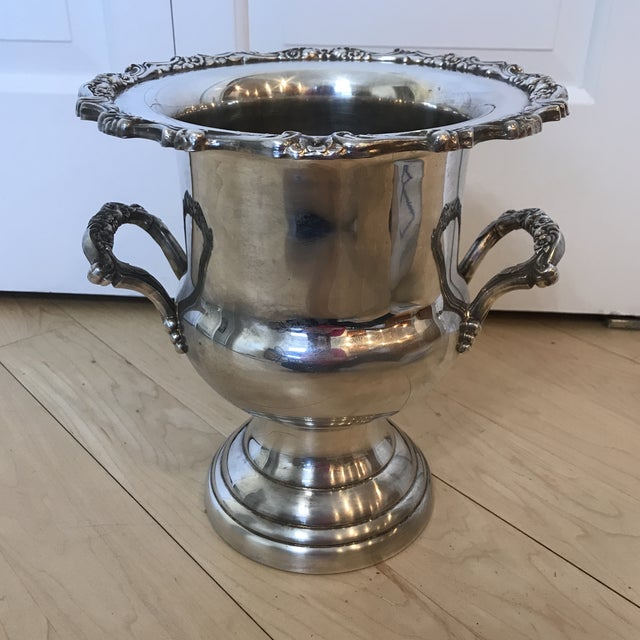 Metal Vintage Silver Oneida Champagne Bucket For Sale - Image 7 of 7