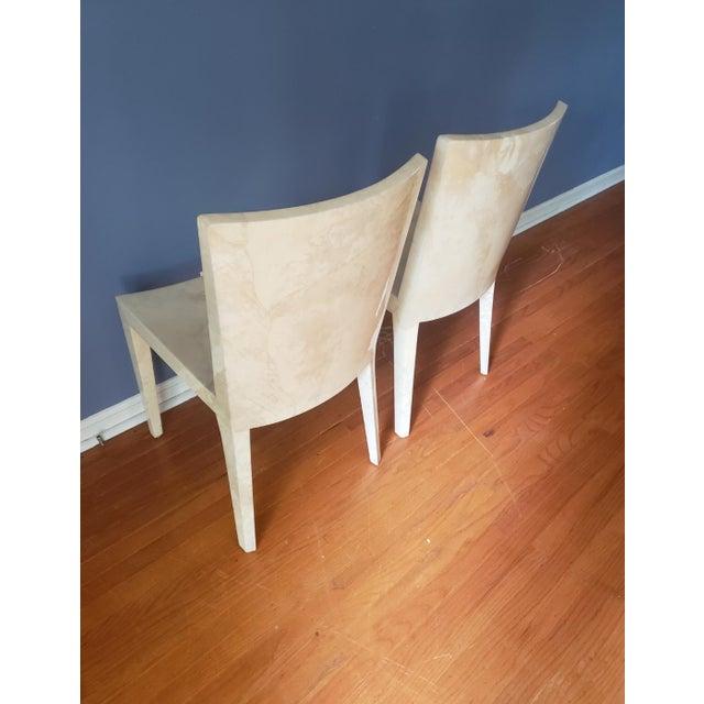 Beige 1980s Vintage Karl Springer Jmf Chairs- A Pair For Sale - Image 8 of 13