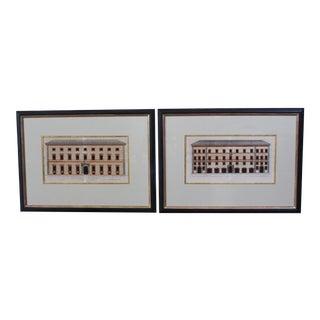 Antique Italian Architectural Engravings - A Pair