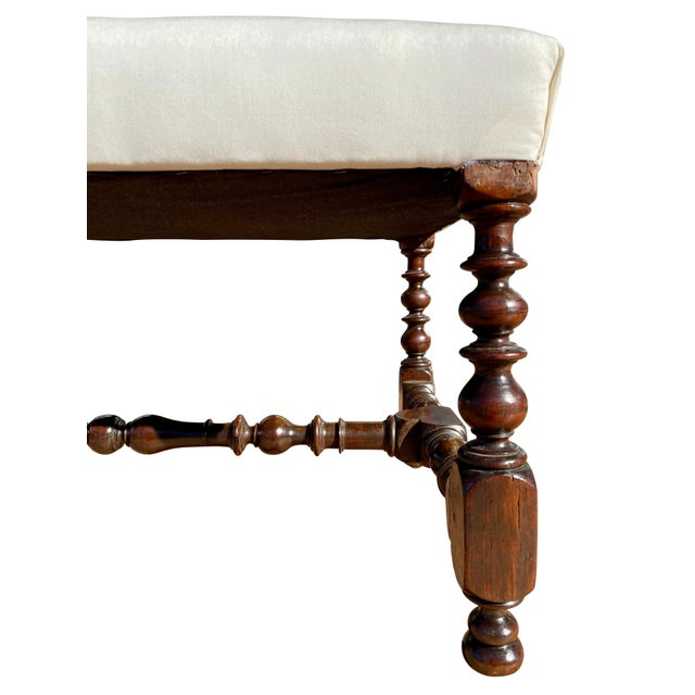 Flemish Baroque Walnut Benches - a Pair For Sale - Image 4 of 8