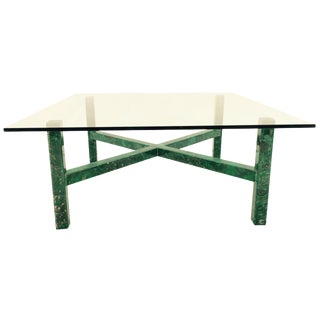 Mid-Century Malachite & Glass Coffee Table