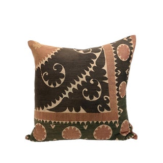 Castano Suzani Embroidered Pillow For Sale