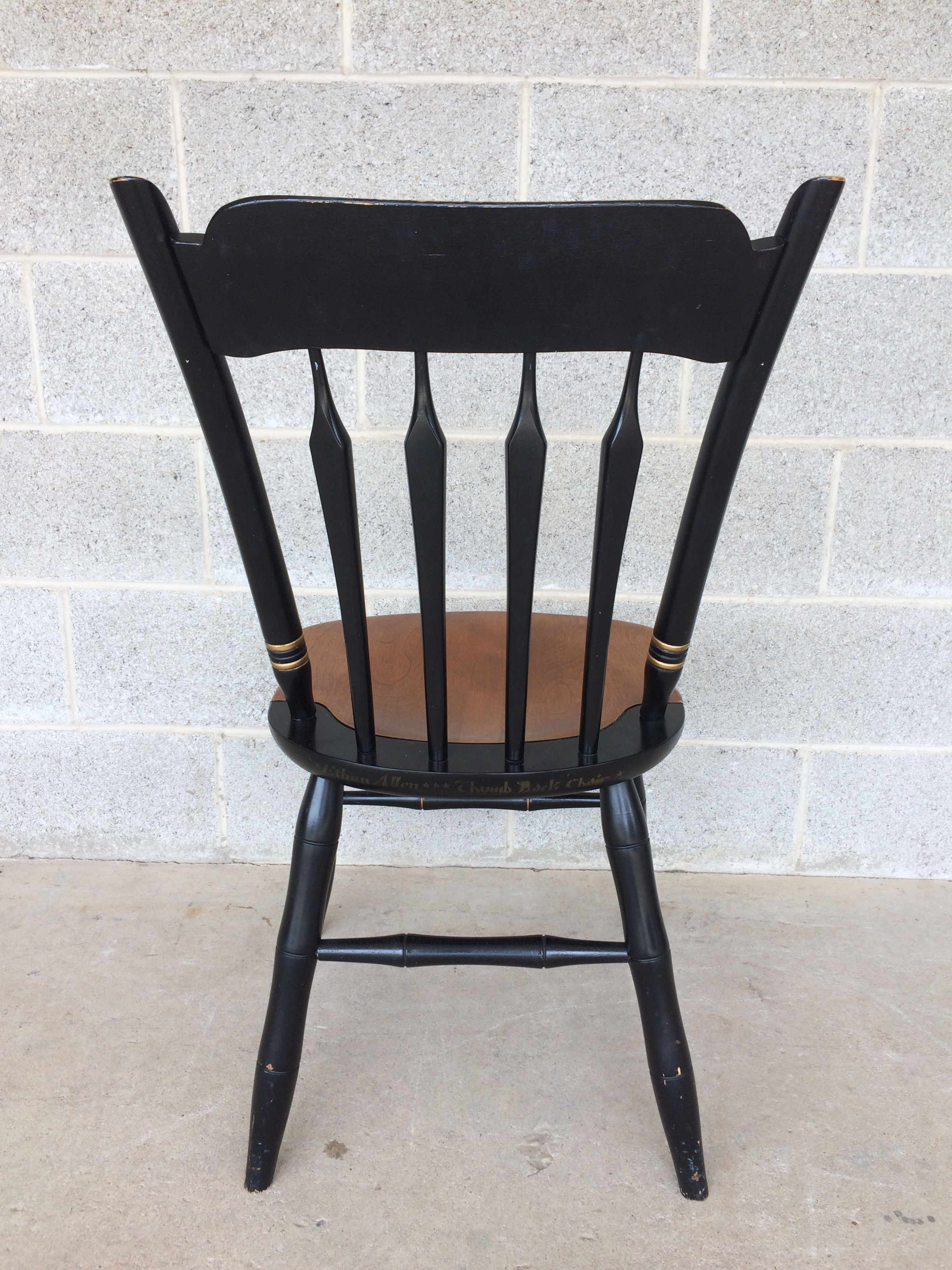 Ethan Allen Hitchcock Style Thumb Back Chairs   Set Of 4 For Sale   Image 5