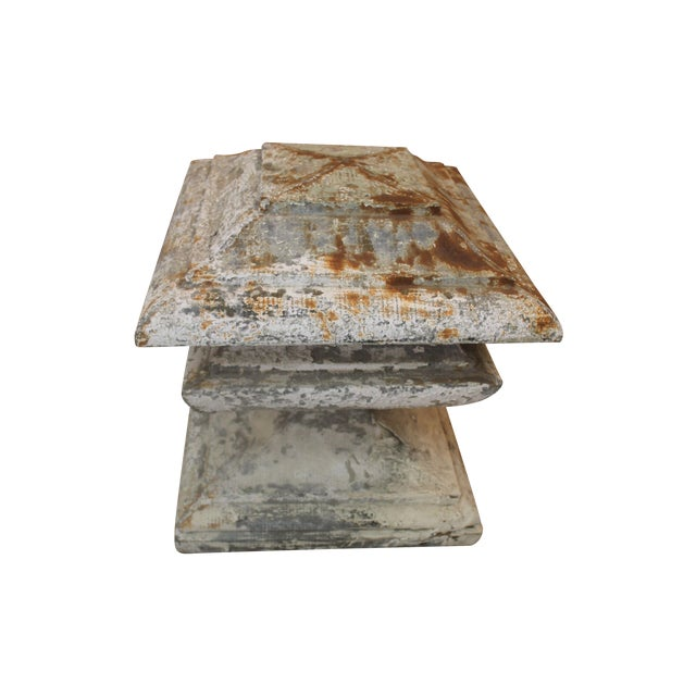 French Zinc Pedestal Fragment - Image 1 of 6