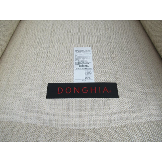 Donghia Ogee Club Chair and Ottoman For Sale - Image 12 of 13