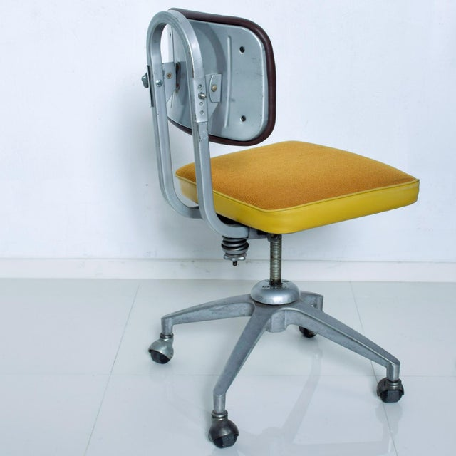 Vintage Rolling Industrial Cosco Tanker Office Desk Chair For Sale In San Diego - Image 6 of 10