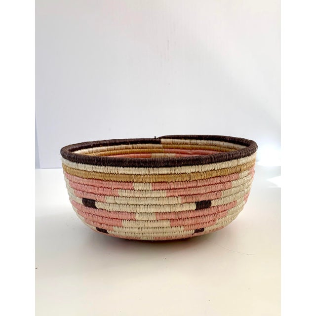 Pink Pale Blush Sozi Catch All Woven Bowl For Sale - Image 8 of 10
