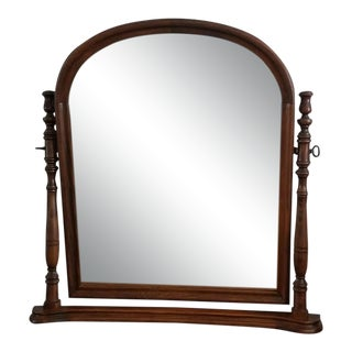 Wood Table Top Vanity Mirror For Sale