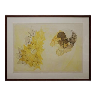 Abstract Lithograph by Klaus Ertel For Sale